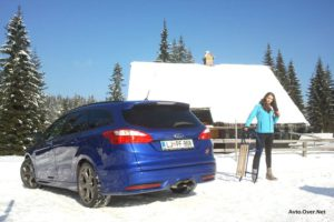 ford focus ST test Pokljuka in Kristina Ilič