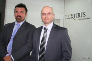 Stojan Hribar in Marko Gorjanc s podjetja Luxuris Commodities DMCC