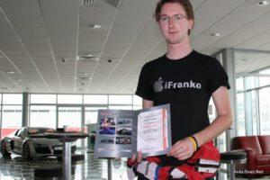 iztok franko s certifikatom F1 style single seater dubai 2013
