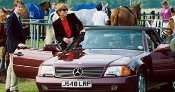 Mercedes-Benz SL, ki ga je vozila princesa Diana