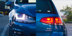 Sprednji žarometi s ksenonsko tehniko so odlični, zadnji avtomobil optično povečajo