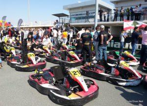Štartno-ciljna ravnina ob zaključku 24-urne dirke! Na njej je nastopilo več kot 30 ekip.