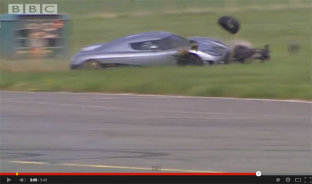 Stig crashes Koenigsegg CXX 2014