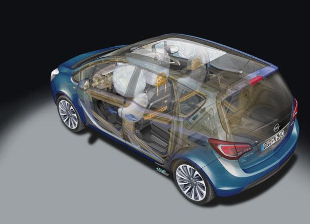 Opel Meriva 2014 airbag