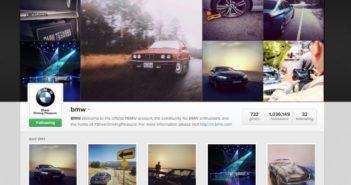 BMW je na socialnem omrežju Instagram zelo aktiven.