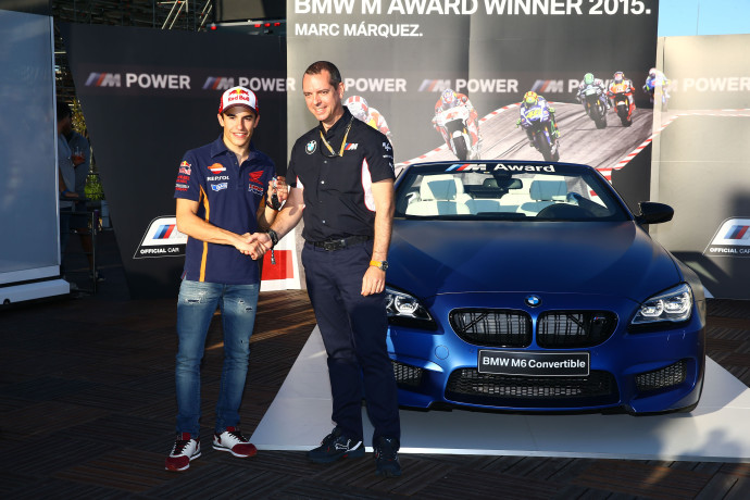 BMW M award, Marc Marquez, Valencia MotoGP 2015