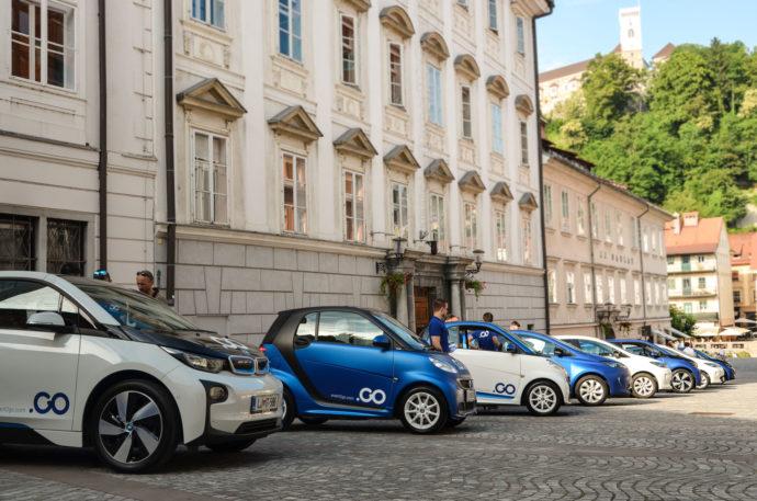 Floto Avant2Go car sharinga trenutno tvorijo tri različna električna vozila
