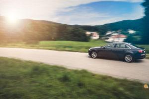 Užitev v vožnji? A ni to slogan neke druge znamke? No ja, tudi z Audijem se da uživati na prelepih slovenskih cestah.