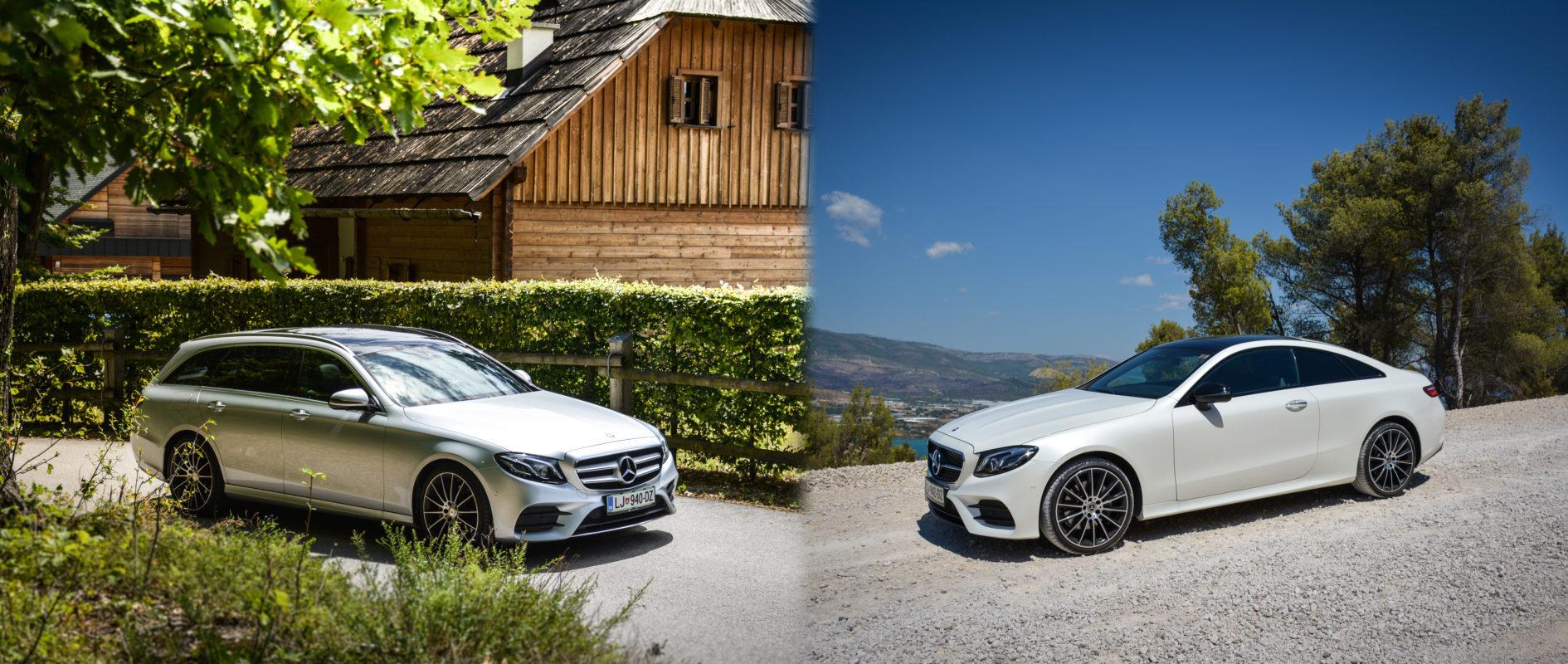 Test: Mercedes-Benz razred E 200 d (karavan in kupe za zadovoljitev različnih okusov in potreb direktorjev)