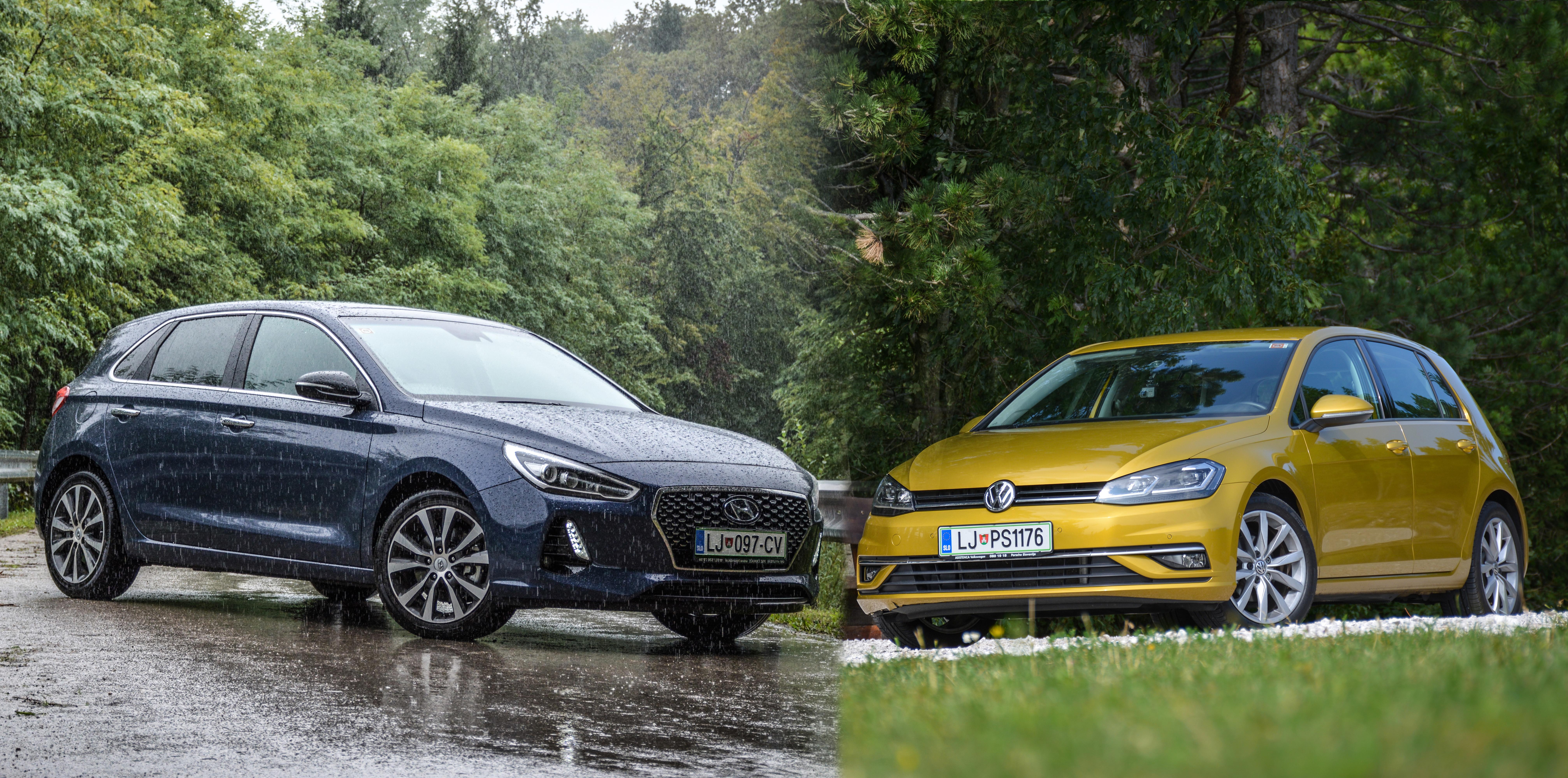 """Test: Volkswagen Golf ali Hyundai i30 z """"litrskima turbobencinarjema""""? Ali imamo novo merilo v segmentu?"""