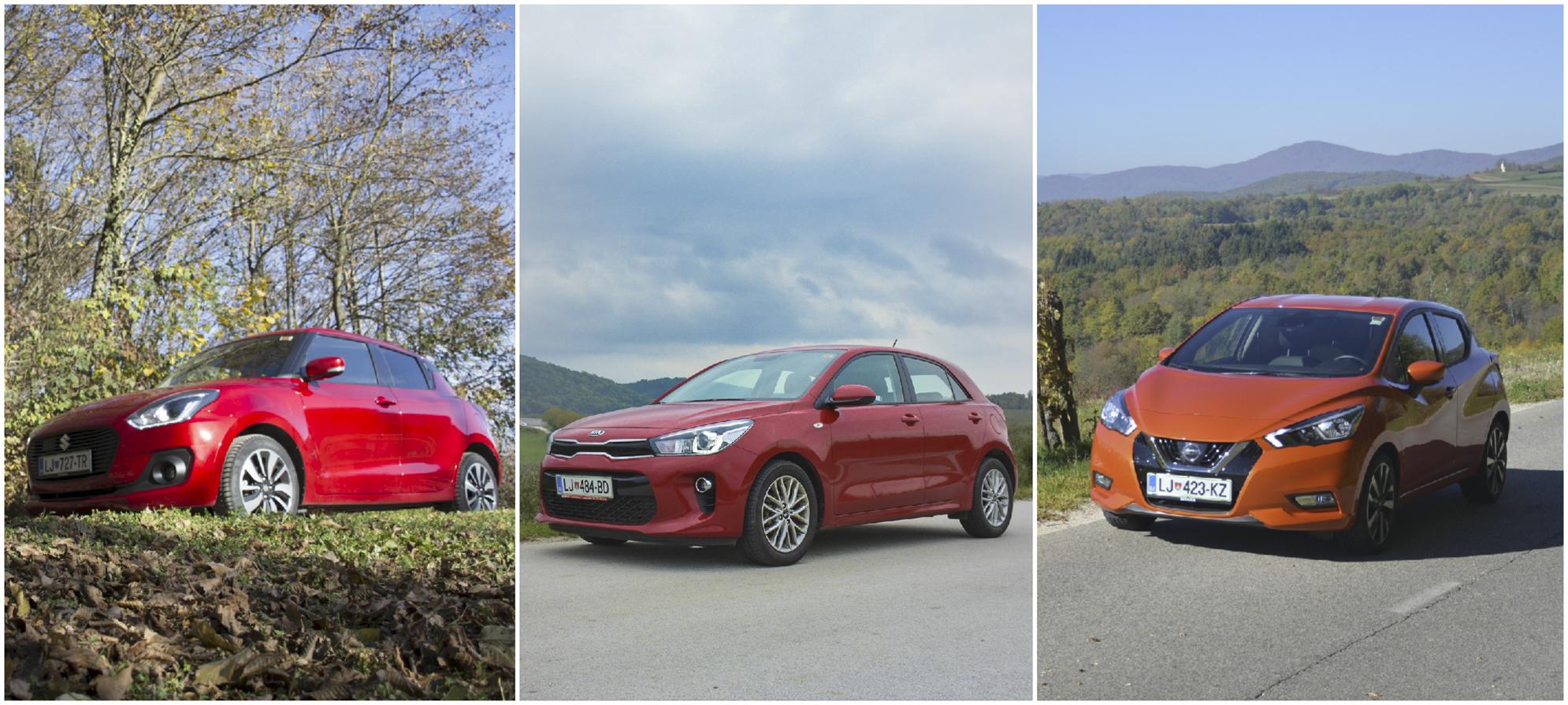 Multitest: Suzuki Swift, Kia Rio in Nissan Micra (iščemo azijskega prvaka)