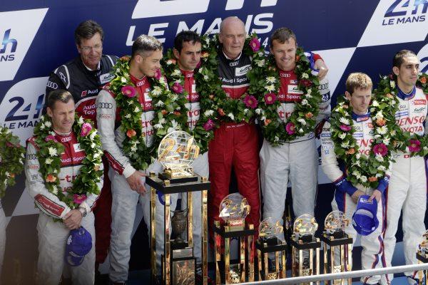 Marcel Fässler, André Lotterer in Benoît Tréluyer so po letu 2011 in 2012 dosegli svojo tretjo skupno zmago v Le Mansu