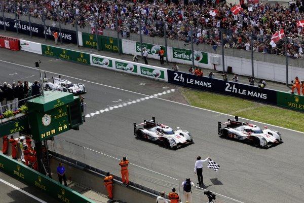 Odločitev v prid obema Audijema R18 e-tron quattro je padla šele v zaključnem delu
