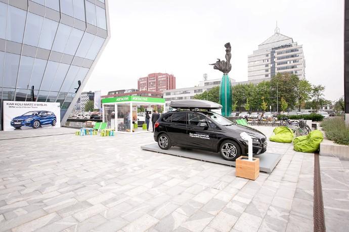 BMW serije 2 Active Tourer so predstavili v urbanem okolju v nakupovalnem središču BTC