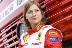 Nina, ko je tekmovala še v Ferrarijevim pokalu. (foto: osebni arhiv)