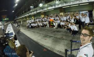 Še zadnja skupinska fotografija za osvojeni 2. in 3. mesti na zadnji dirki sezone 2014.