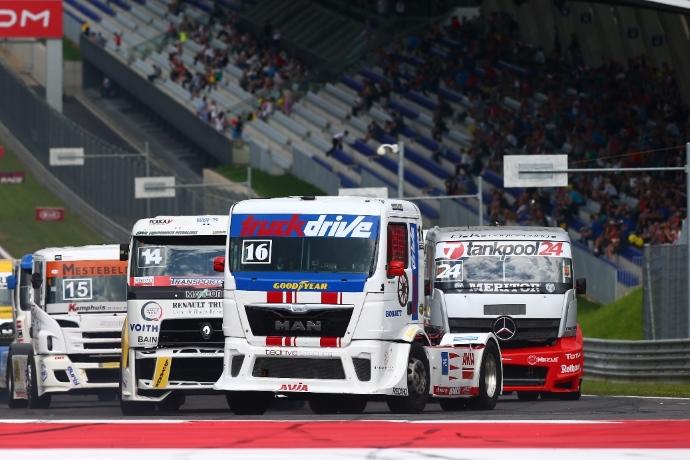 Za Evropsko prvenstvo FIA v dirkanju s tovornjaki so edine primerne Goodyearove tovorne pnevmatike